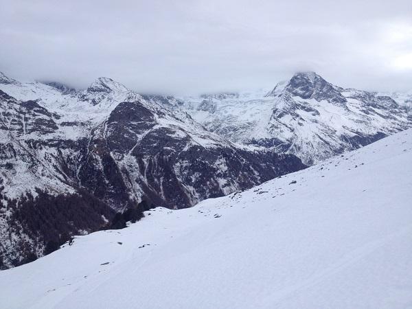 Vue sur le glacier.